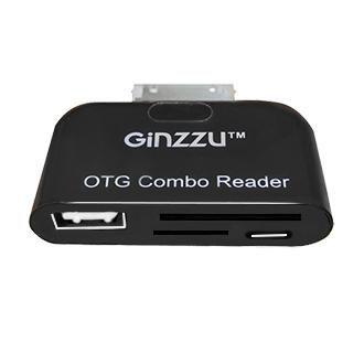 Адаптер OTG GINZZU GR-582UB,  черный,  30-pin (Samsung) -  USB/microUSB