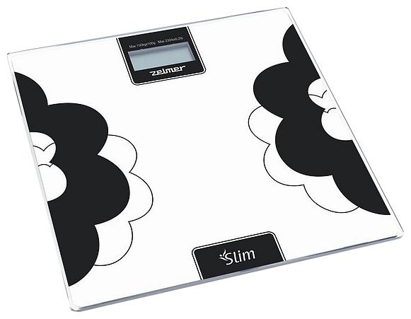 Весы ZELMER 34Z012, до 150кг, цвет: белый/черный