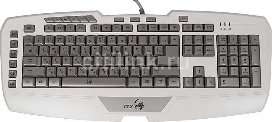 Клавиатура GENIUS GX-Imperator Pro,  USB, белый [31310062104]