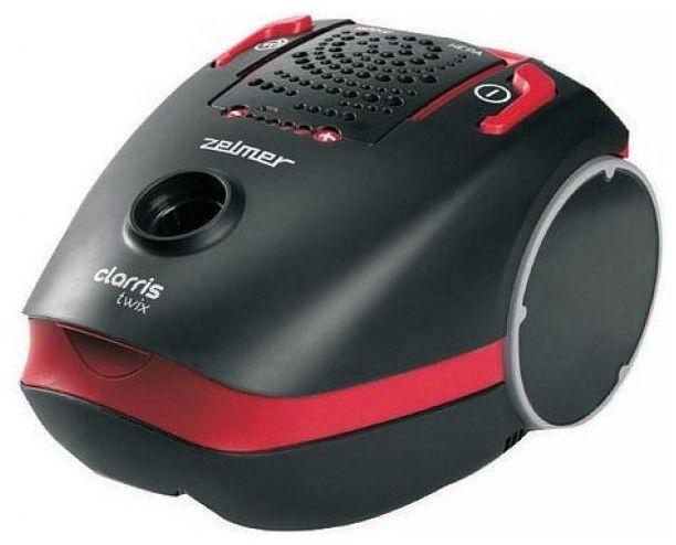 Пылесос ZELMER Clarris Twix VC2750.0 ST, 1800Вт, черный/красный