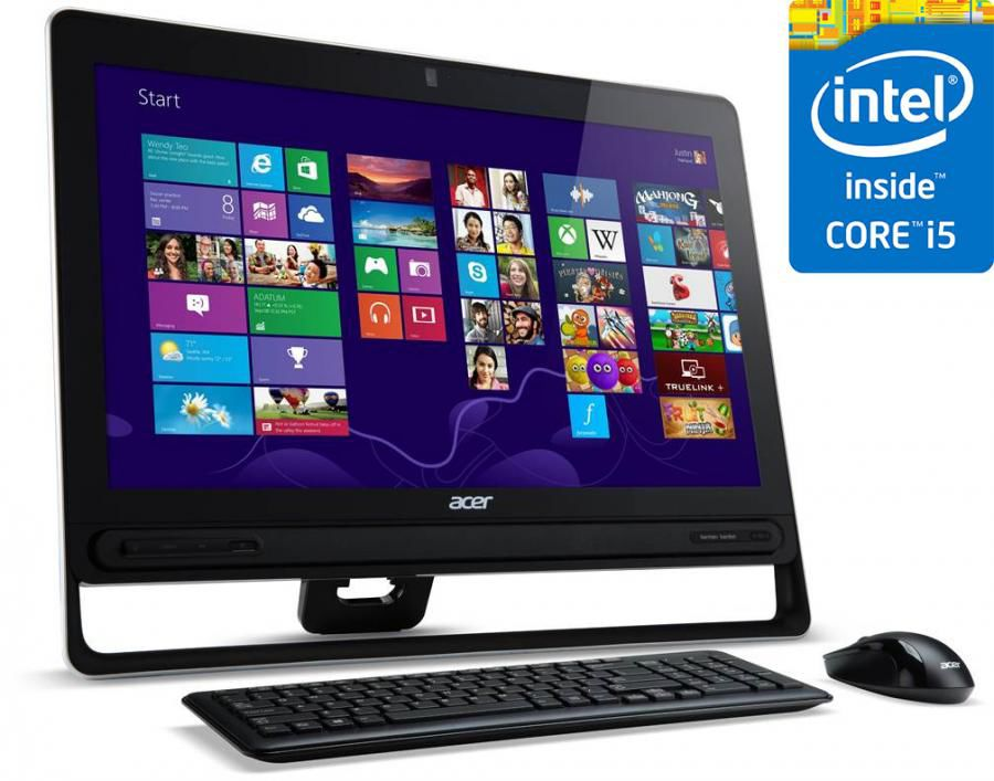 Моноблок ACER Aspire Z3-610, Процессор Intel® Core i5 4200U, 8Гб, 1000Гб, nVIDIA GeForce GT740M - 2048 Мб, DVD-RW, Windows 8.1, черный [dq.ssper.003]