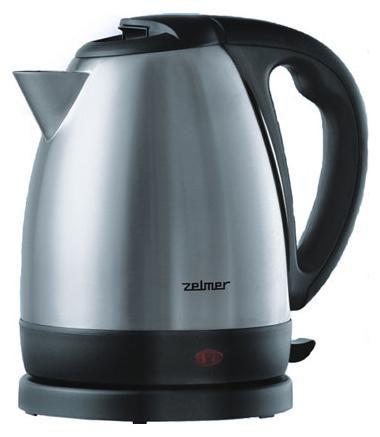 Чайник электрический ZELMER 17Z011, 2400Вт, серебристый и черный