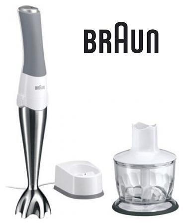Блендер BRAUN MR730CM,  погружной,  белый