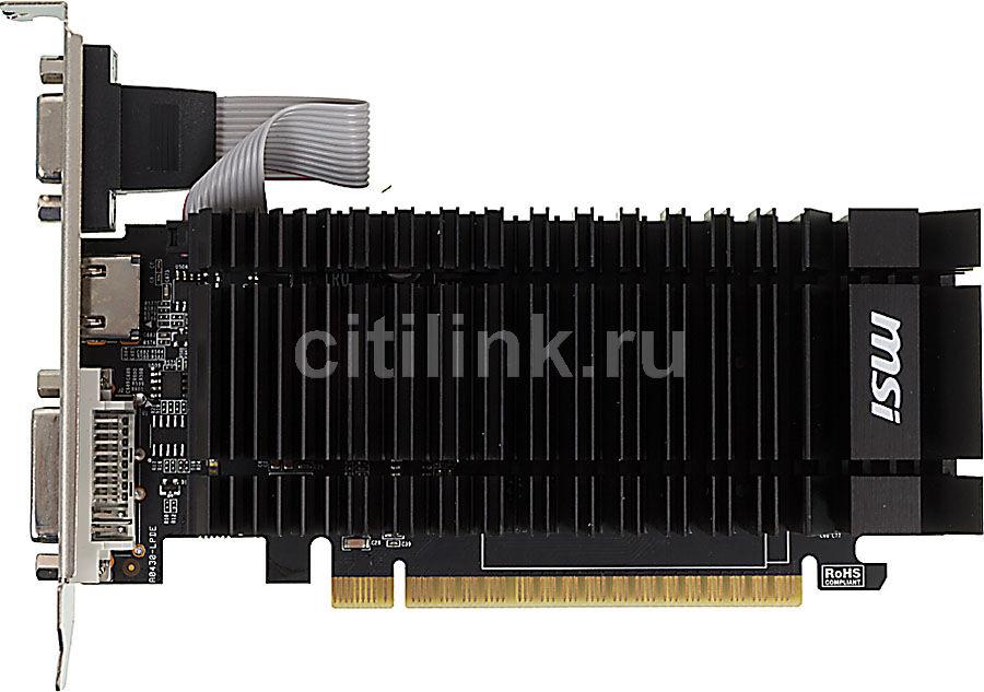 Видеокарта MSI GeForce GT 610,  2Гб, DDR3, Low Profile,  Ret [n610-2gd3h/lpl]
