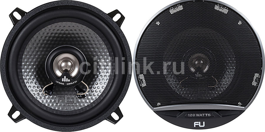 Колонки автомобильные FLI Underground FU5-F1R,  коаксиальные,  120Вт