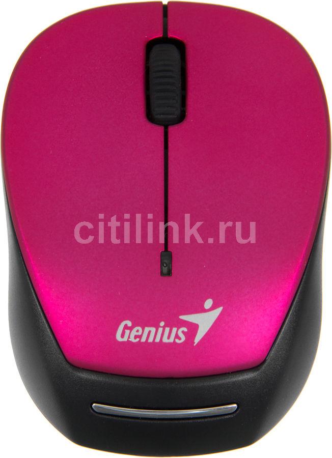 Мышь GENIUS Micro Traveler 9000R оптическая беспроводная USB, розовый и черный [31030108101]