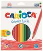 Карандаши цветные Carioca HEXAGONAL 40381 шестигран. 24цв. коробка/европод.