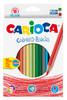 Карандаши цветные Carioca 4186518цв. точилка коробка/европод.
