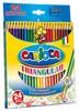 Карандаши цветные Universal CARIOCA TRIO 42516 трехгран. 24цв. точилка коробка/европод.