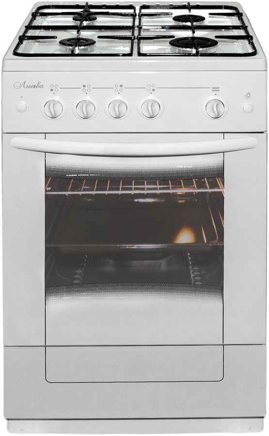 Газовая плита ЛЫСЬВА ЭГ 401 M2C-2у,  электрическая духовка,  белый
