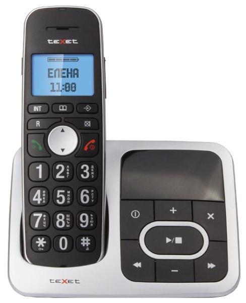 Радиотелефон TEXET TX-D6855А,  черный и серый