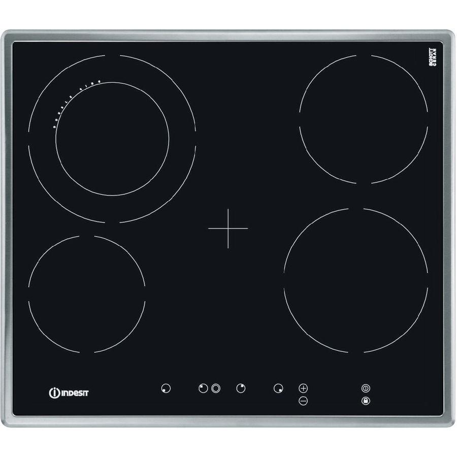 Варочная панель INDESIT VRA 641 D X S,  Hi-Light,  независимая,  черный