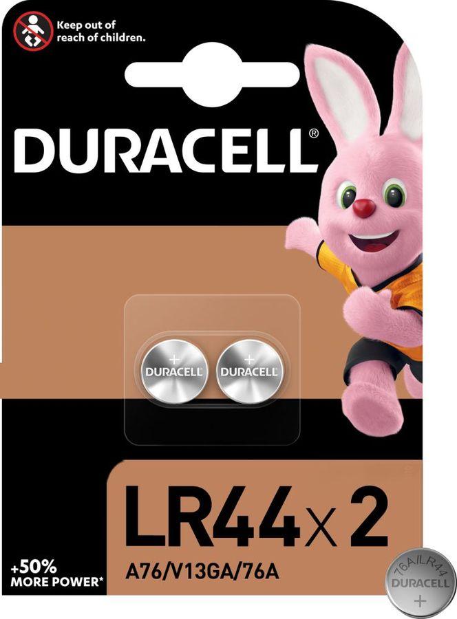 Батарейка DURACELL LR44-2BL,  2 шт. LR44