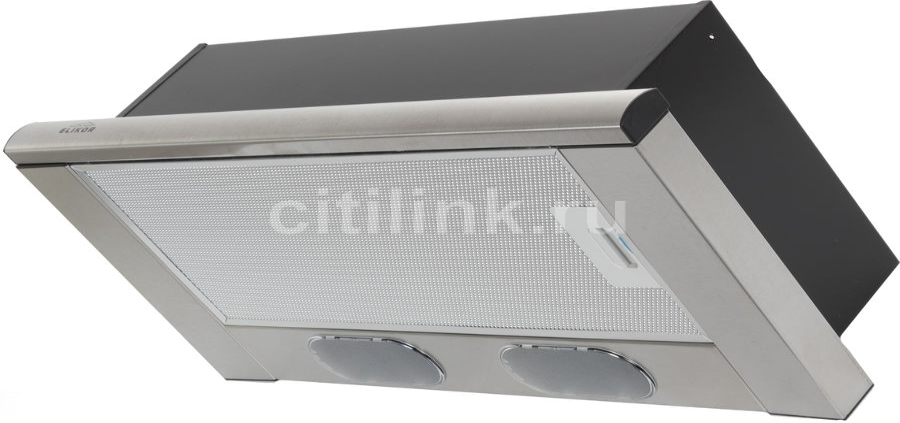Вытяжка встраиваемая Elikor Интегра 60Н-400-В2Л нержавеющая сталь/нержавеющая сталь управление: кноп