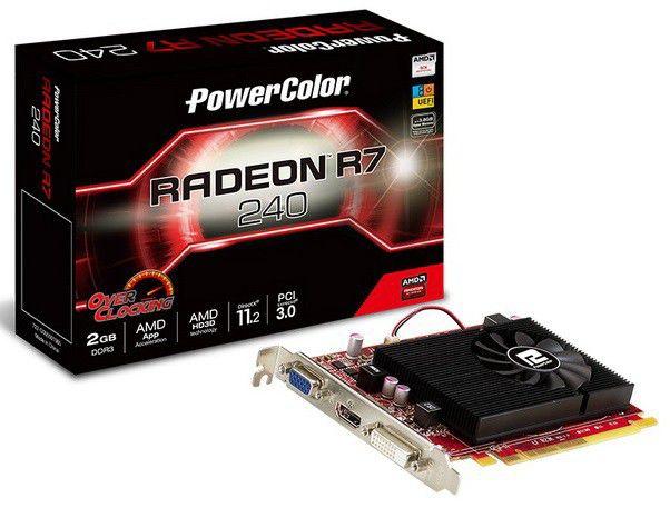 Видеокарта POWERCOLOR Radeon R7 240,  1Гб, DDR3, Ret [axr7 240 1gbd5-he/oc]