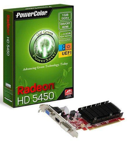 Видеокарта POWERCOLOR Radeon HD 5450,  1Гб, DDR3, Low Profile,  oem [ax5450 1gbk3-shev2]