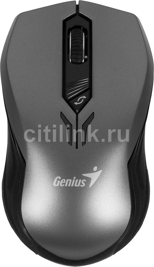 Мышь GENIUS Traveler D6600 оптическая беспроводная USB, серый и черный [31030104101]