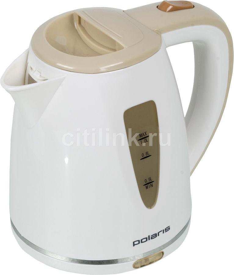 Чайник электрический POLARIS PWK1038C, 1200Вт, белый и бежевый