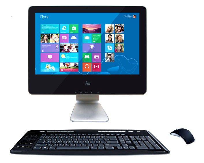 Моноблок IRU 113, Intel Celeron 887, 2Гб, 500Гб,  HD Graphics, DVD-RW, noOS, черный