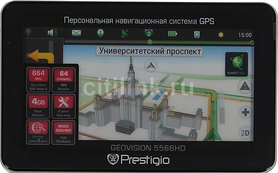 GPS навигатор PRESTIGIO GeoVision 5566,  5