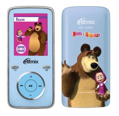 MP3 плеер RITMIX RF-4950M flash 4Гб синий [15115091]