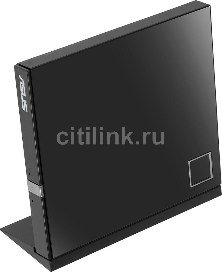 Оптический привод Blu-Ray ASUS SBC-06D2X-U/BLK/G/AS, внешний, USB, черный,  Ret