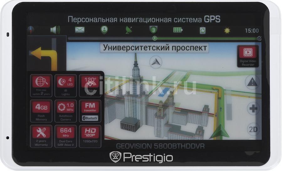 GPS навигатор PRESTIGIO GeoVision 5800BTHDDVR,  5