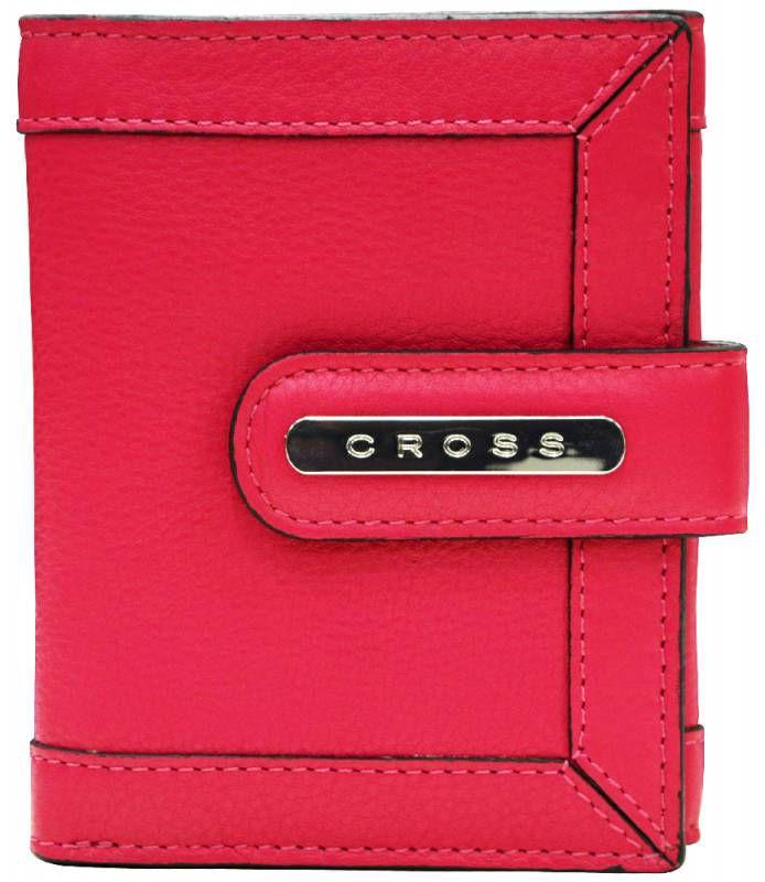 Кошелек Cross Leather Nappa Natural малый New Azulone (AC508145-2) красный кожа 6 отделений для карт