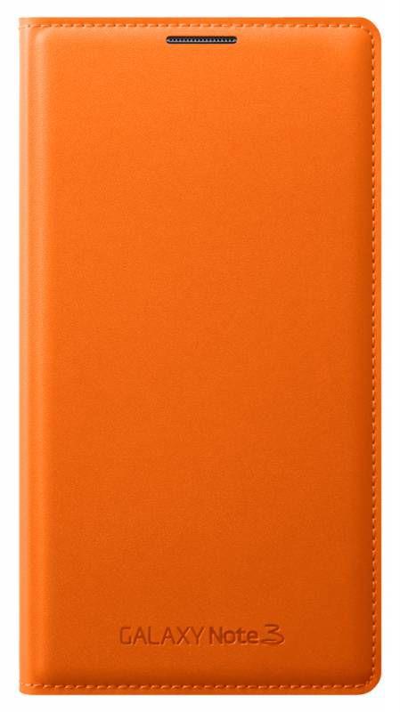 Чехол (флип-кейс) SAMSUNG Flip Wallet, EF-WN900BOEGRU, для Samsung Galaxy Note 3, оранжевый