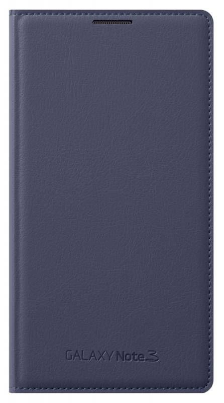 Чехол (флип-кейс) SAMSUNG Flip Wallet, EF-WN900BVEGRU, для Samsung Galaxy Note 3, темно-синий