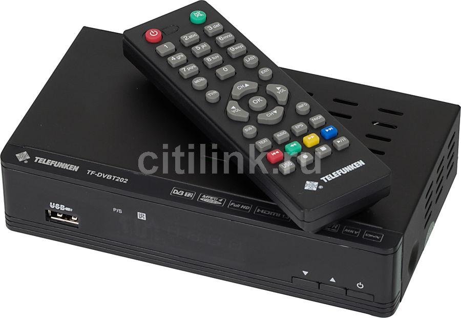 Ресивер DVB-T2 TELEFUNKEN TF-DVBT202,  черный [tf-dvbt202(черный)]