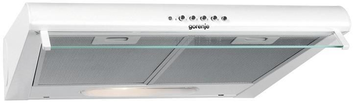 Вытяжка козырьковая Gorenje DU5446W белый управление: кнопочное (1 мотор)