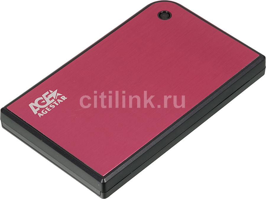 Внешний корпус для  HDD/SSD AGESTAR 3UB2A14, красный