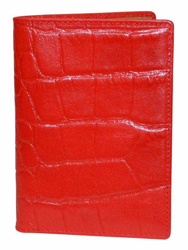 Обложка для паспорта женский Cross Coco AC538104-2 красный натур.кожа