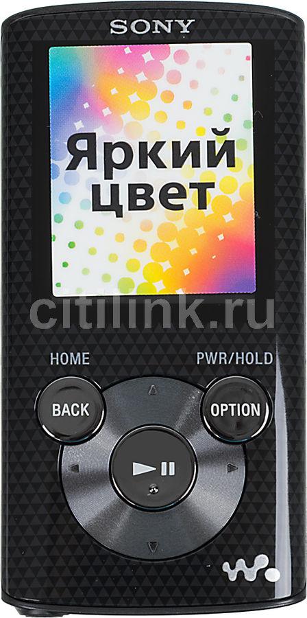 MP3 плеер SONY NWZ-E384 flash 8Гб черный [nwze384b.ee]