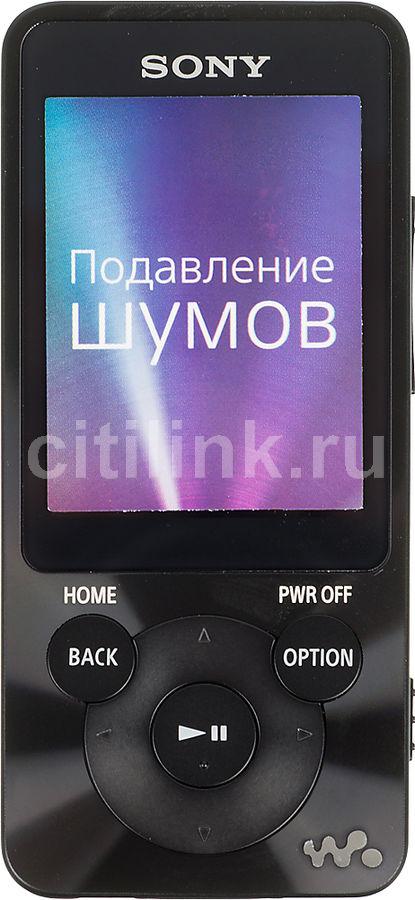 MP3 плеер SONY NWZ-E584 flash 8Гб черный [nwze584b.ee]