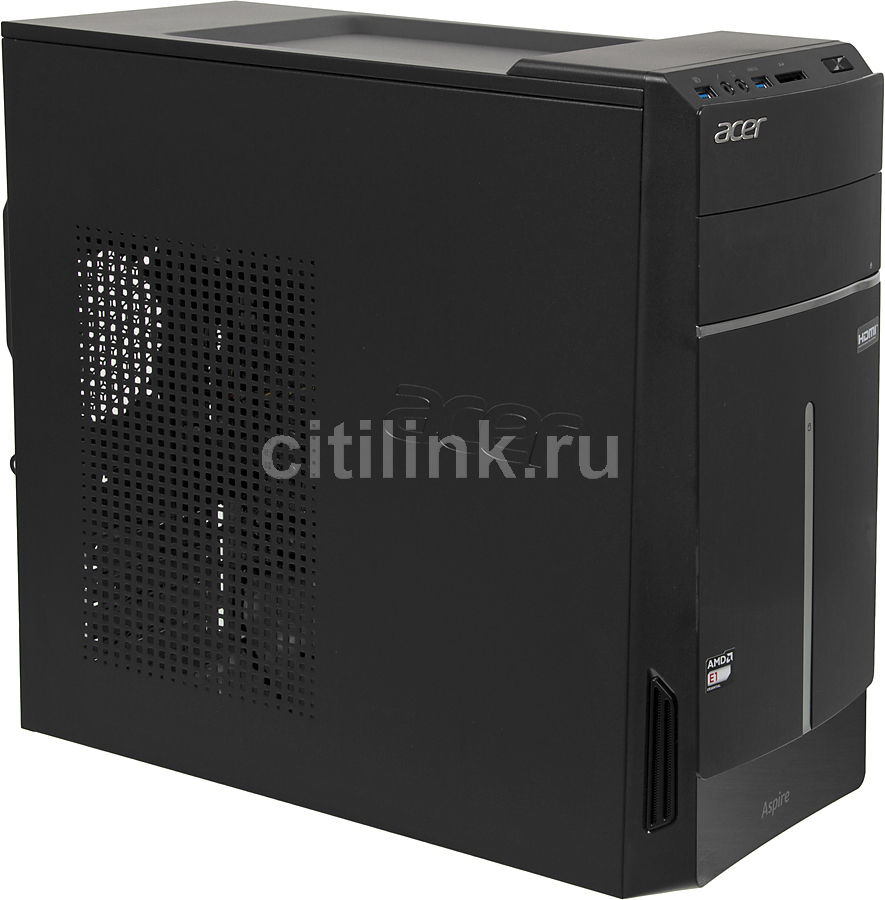 Компьютер  ACER Aspire TC-100,  AMD  E1  2500,  DDR3 2Гб, 500Гб,  AMD Radeon HD 8240,  DVD-RW,  CR,  Windows 8.1,  черный и серый [dt.sr6er.007]