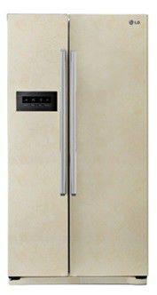 Холодильник LG GC-B207GEQV,  двухкамерный, бежевый