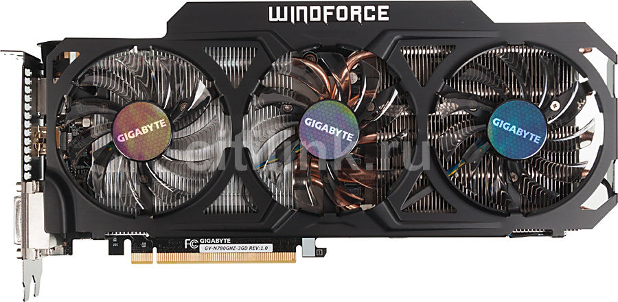 Видеокарта GIGABYTE GeForce GTX 780,  GV-N780GHZ-3GD,  3Гб, GDDR5, OC,  Ret