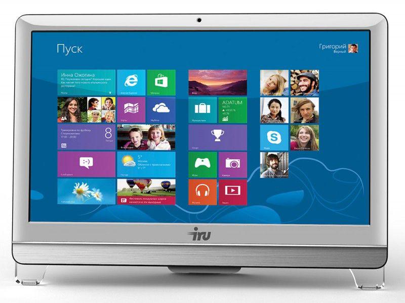 Моноблок IRU 310, Intel Pentium G2020, 4Гб, 500Гб, Intel HD Graphics, DVD-RW, Free DOS, белый