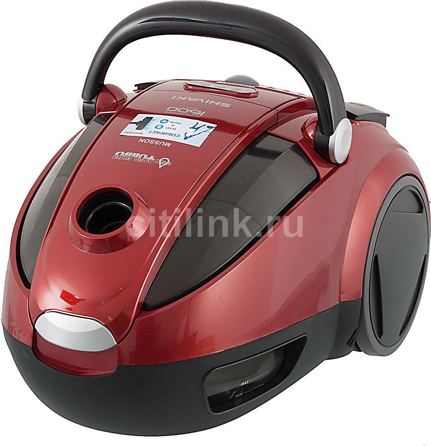 Пылесос SHIVAKI SVC-1757R, 1600Вт, черный/красный