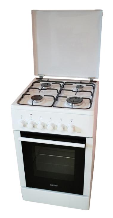 Газовая плита SIMFER F 4403 ZERW,  электрическая духовка,  белый