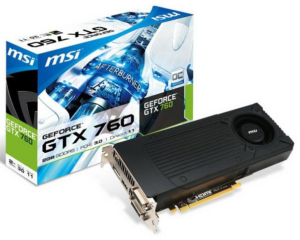 Видеокарта MSI GeForce GTX 760,  2Гб, GDDR5, Ret [n760-2gd5]