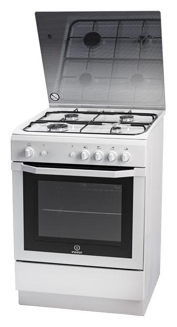 Газовая плита INDESIT I6GG0G(W)/RU,  газовая духовка,  белый