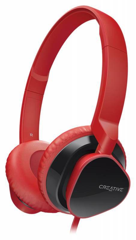 Наушники с микрофоном CREATIVE MA2300 (51EF0630AA005),  накладные, красный  [51ef0630aa006]