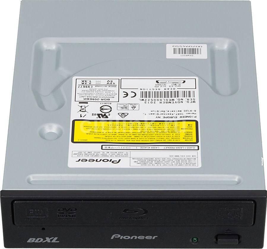 Оптический привод Blu-Ray PIONEER BDR-209EBK, внутренний, SATA, черный,  Ret