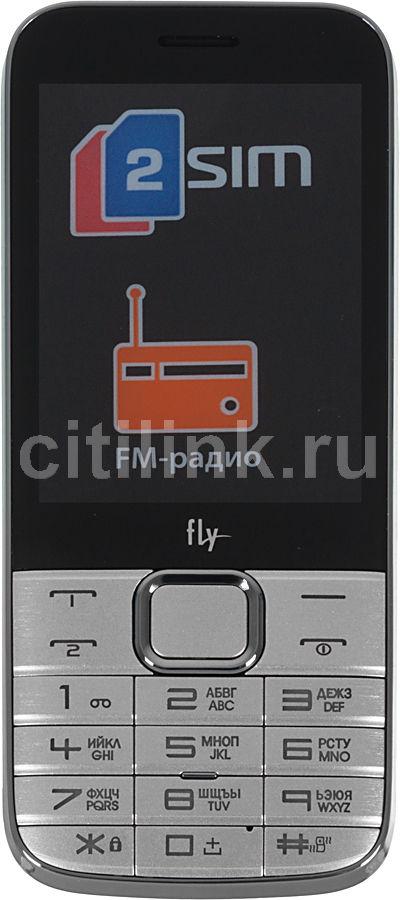 Мобильный телефон FLY DS128  серебристый