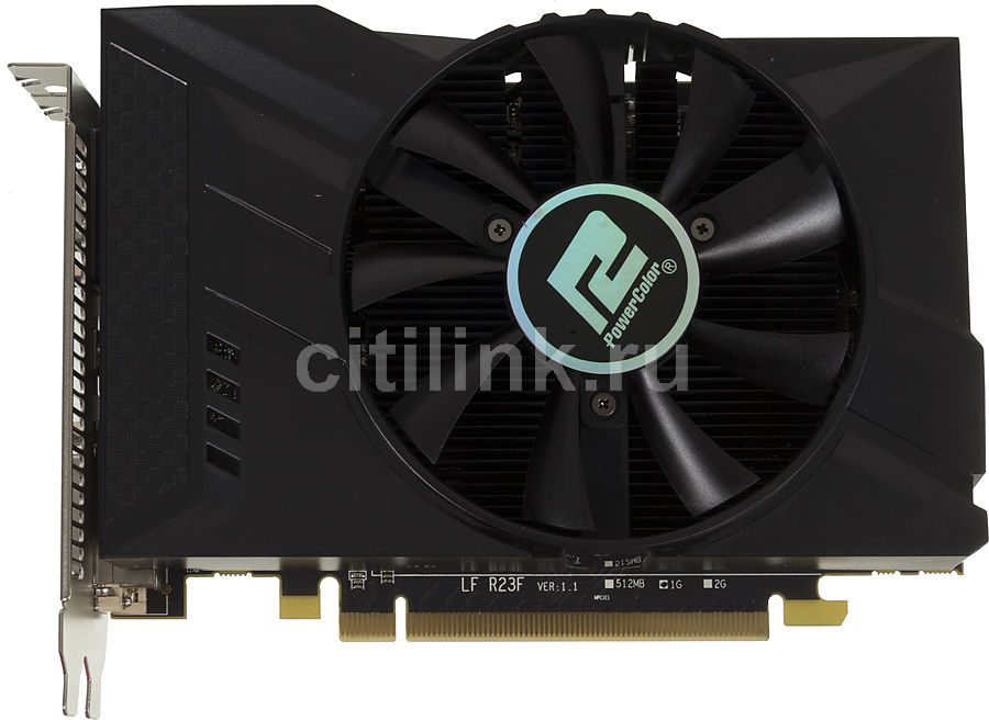 Видеокарта POWERCOLOR Radeon R7 250,  AXR7 250 1GBD5-HV2E/OC,  1Гб, GDDR5, OC,  Ret