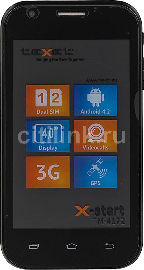 Смартфон TEXET X-start TM-4172  черный