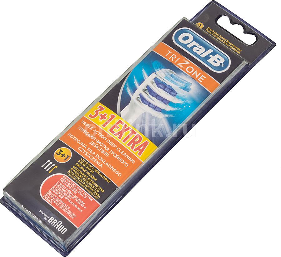 Сменные насадки для электрических зубных щеток ORAL-B Trizone 4 шт [80228239]